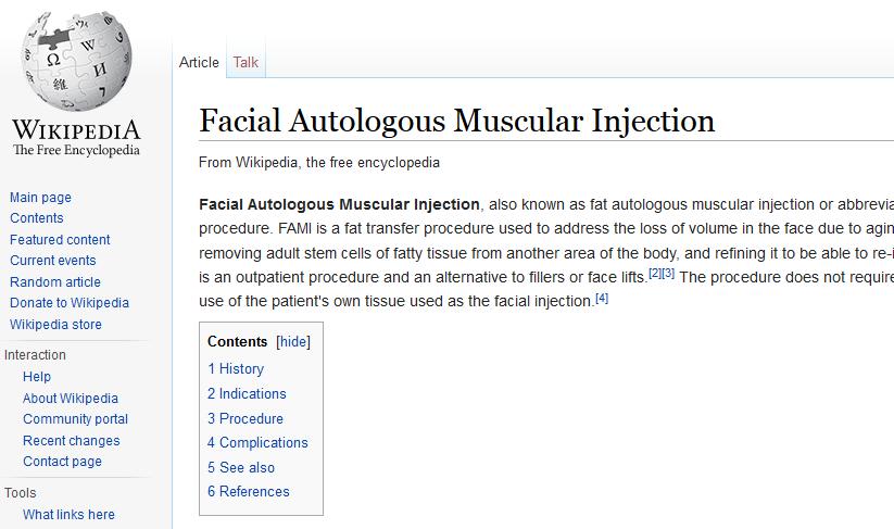 FAMI in Wikipedia